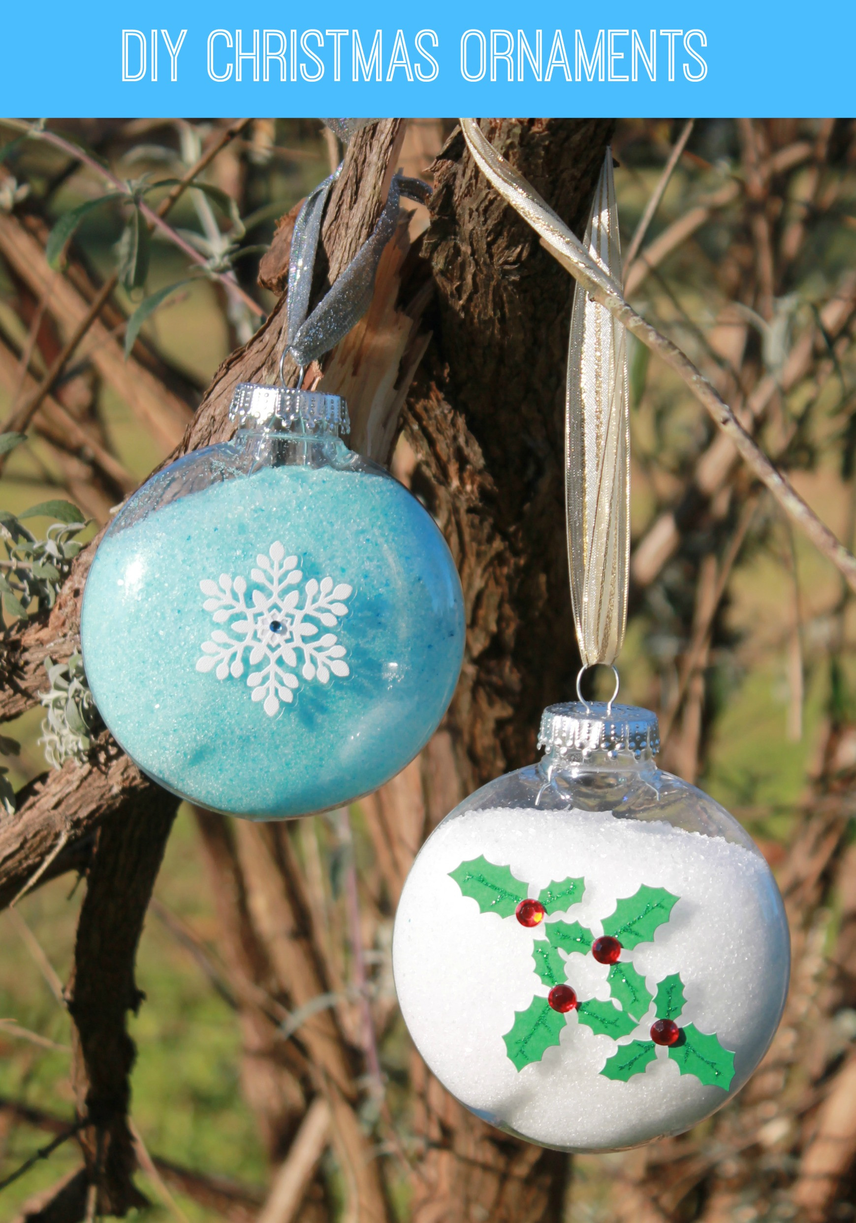 DIY Christmas Ornaments With Pictures  Easy DIY Snowflake Christmas Ornament