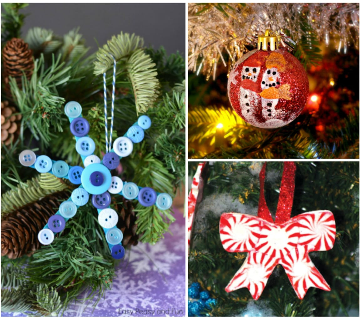 DIY Christmas Ornaments With Pictures  25 DIY Handmade Christmas Ornaments