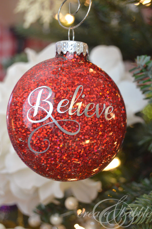 DIY Christmas Ornaments With Pictures  All That Glitters DIY Holiday Projects with Sparkle