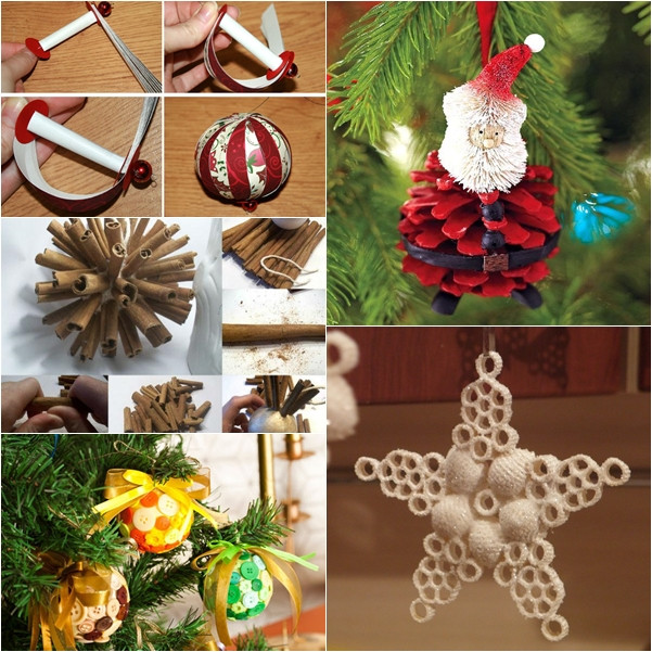 DIY Christmas Ornaments With Pictures  Wonderful DIY 30 Homemade Christmas Ornaments