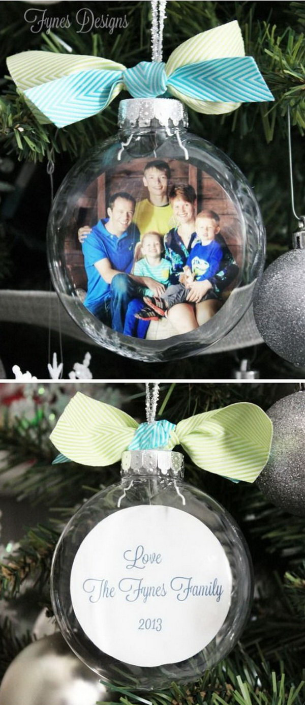 DIY Christmas Ornaments With Pictures  30 DIY Ornament Ideas & Tutorials for Christmas