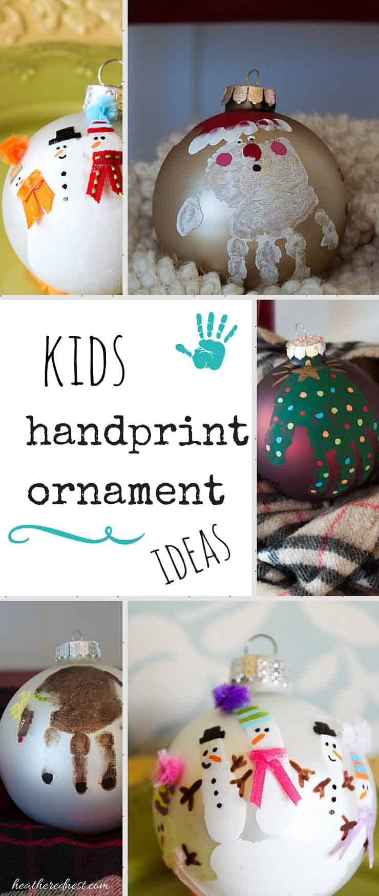 DIY Christmas Ornaments With Pictures  Handprint Ornament and DIY Christmas Ornament Ideas