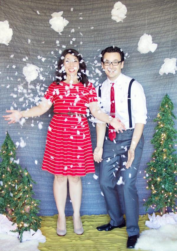DIY Christmas Photography Backdrop  DIY Holiday Backdrop