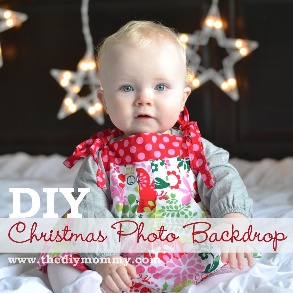 DIY Christmas Photography Backdrop  Make DIY Christmas Backdrops with Twinkle Lights