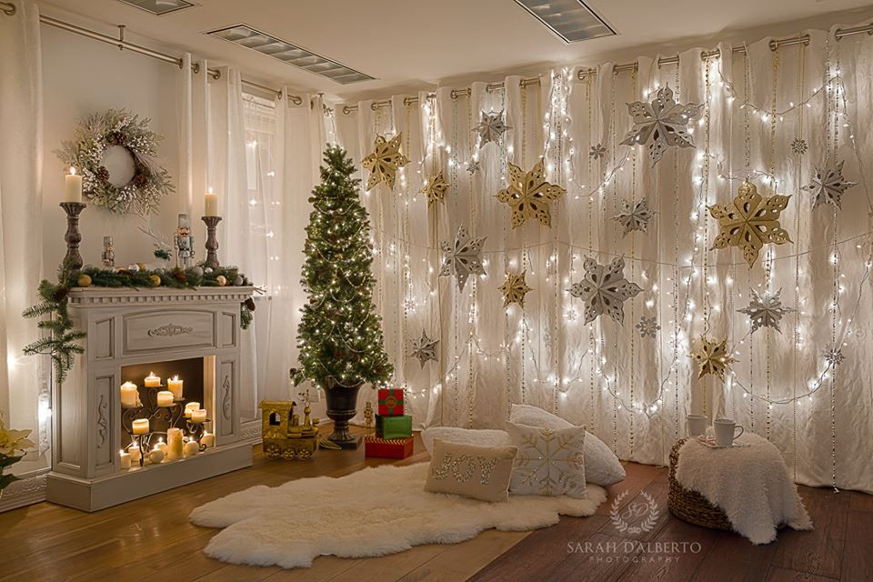 DIY Christmas Photography Backdrop  Christmas setup Christmas shoot ideas