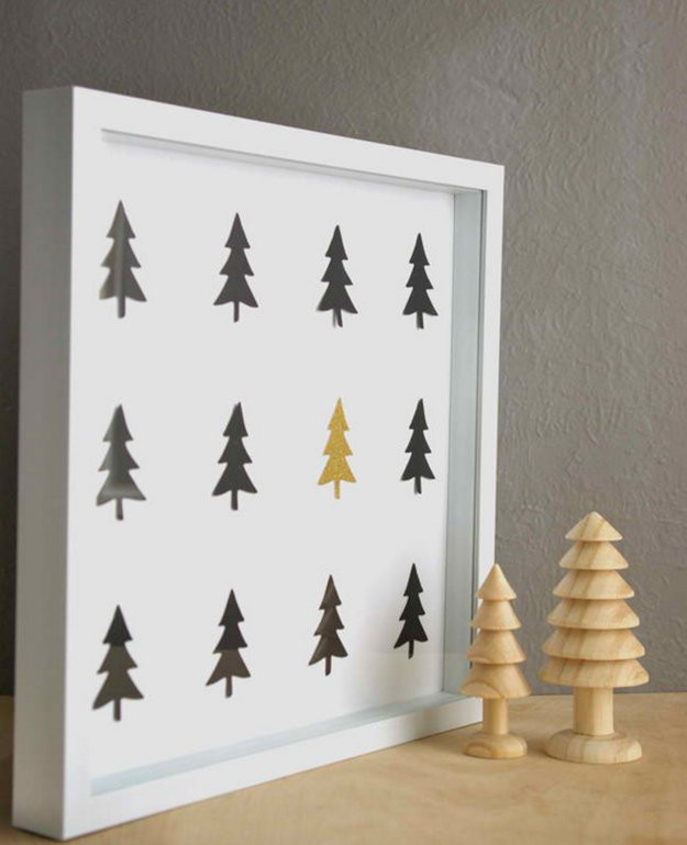 DIY Christmas Wall Art  50 Easy Christmas Crafts For Everyone In The Family To Enjoy