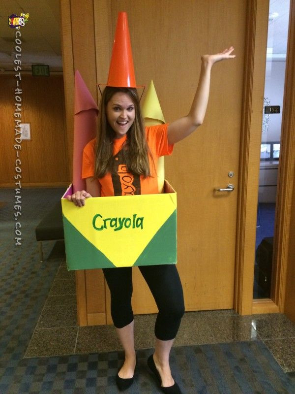 DIY Crayon Costume  Out of the Box Costume Idea The Brightest Crayon in the