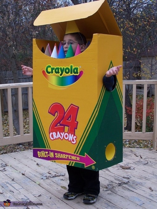 DIY Crayon Costume  Think Outside the Box for DIY Halloween costumes