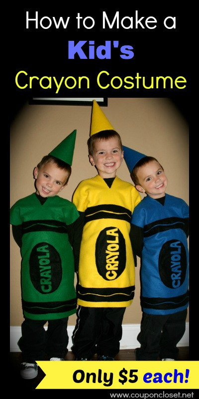 DIY Crayon Costume  How to Make a Crayon Costume Cost only $5 e Crazy Mom
