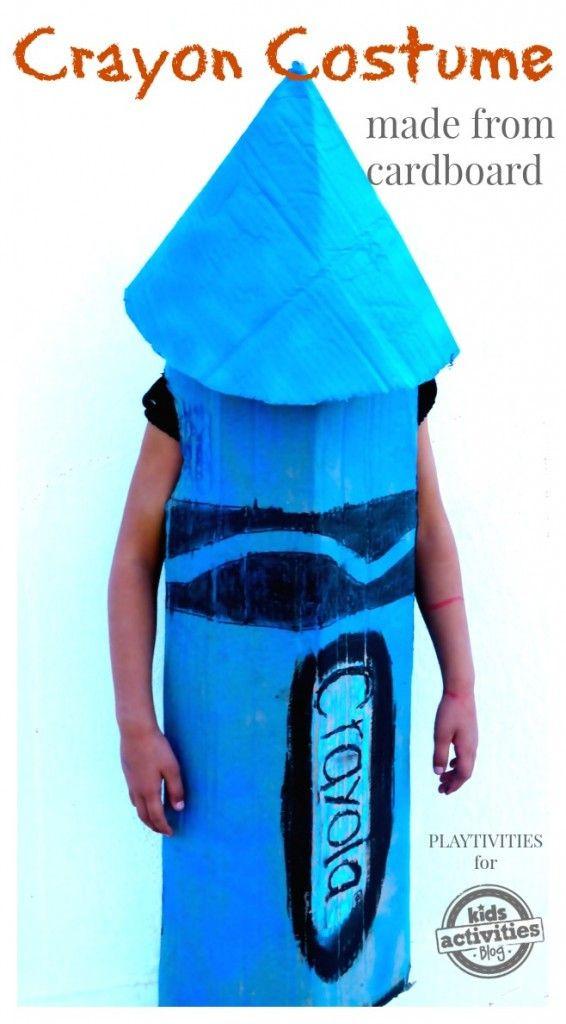 DIY Crayon Costume  DIY Crayon Costume From Cardboard
