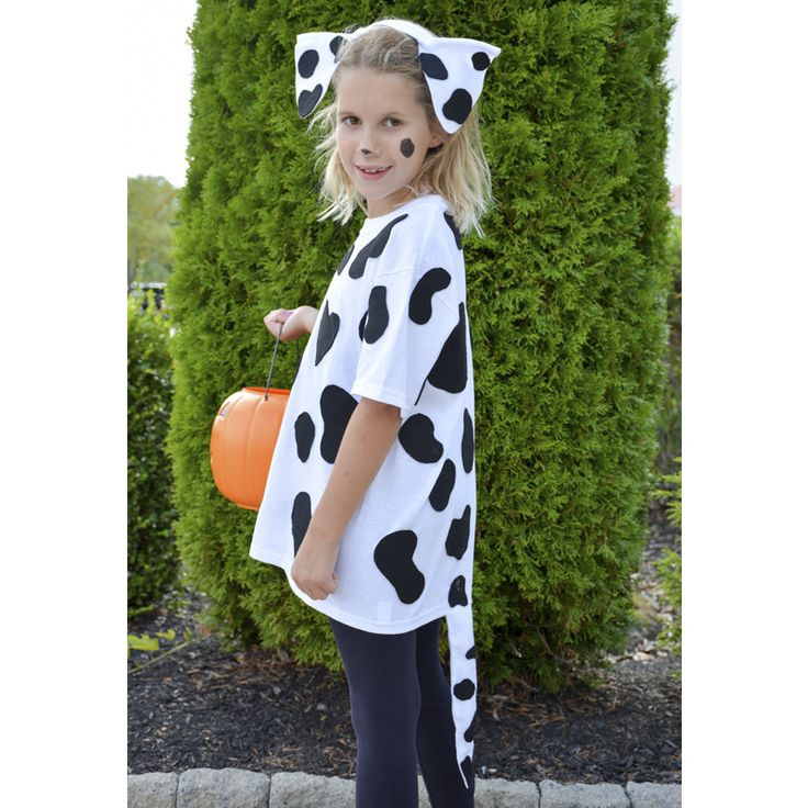DIY Dog Costume For Kids  Kid Costumes Halloween Costumes for Kids Dalmation Dog