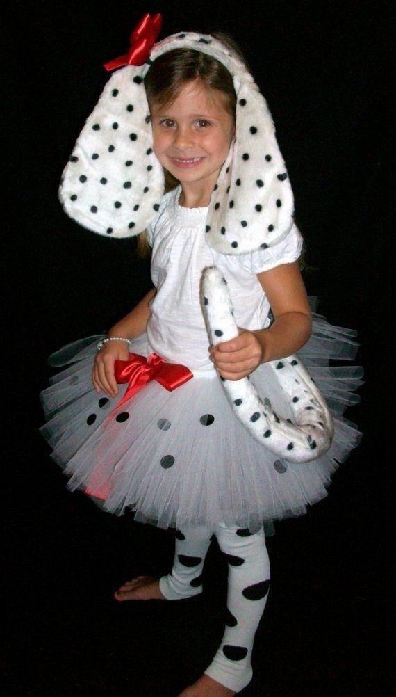 DIY Dog Costume For Kids  Sweet Dalmation Puppy Tutu Costume Set 3 piece set tutu
