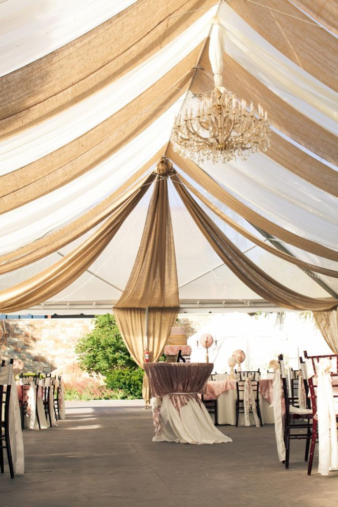 DIY Draping For Wedding  50 Chic Rustic Burlap and Lace Wedding Ideas Deer Pearl