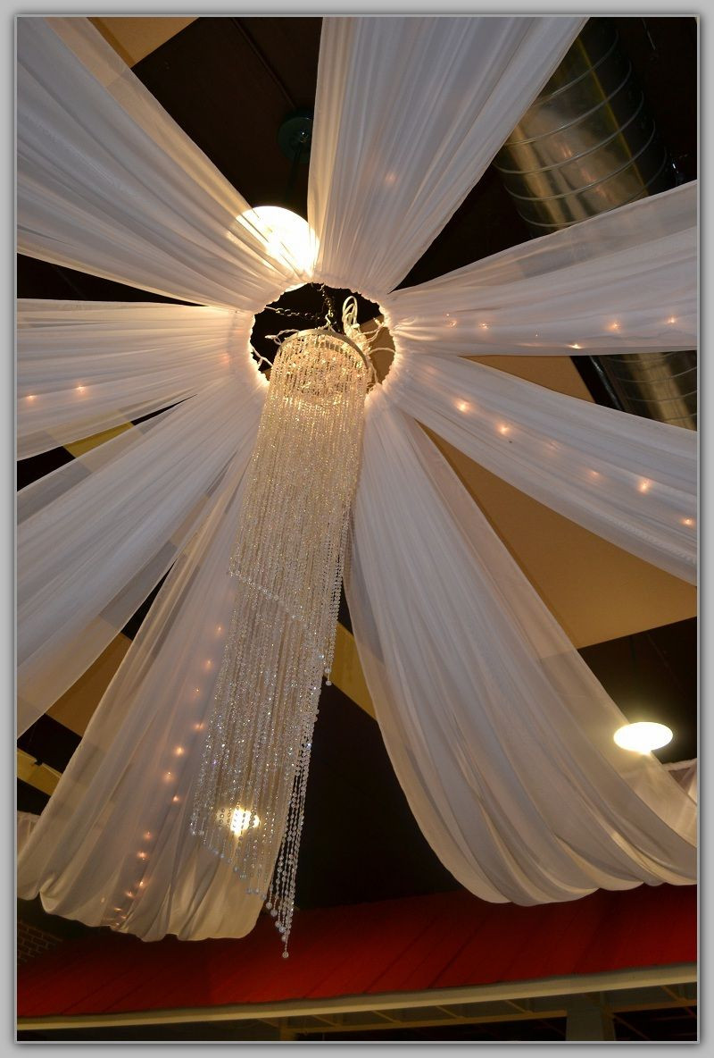 DIY Draping For Wedding  Draping Ceiling