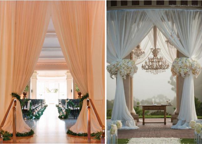 DIY Draping For Wedding  Fabulous Drapery Ideas For Weddings Belle The Magazine