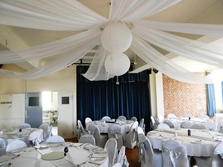 DIY Draping For Wedding  Ceiling draping