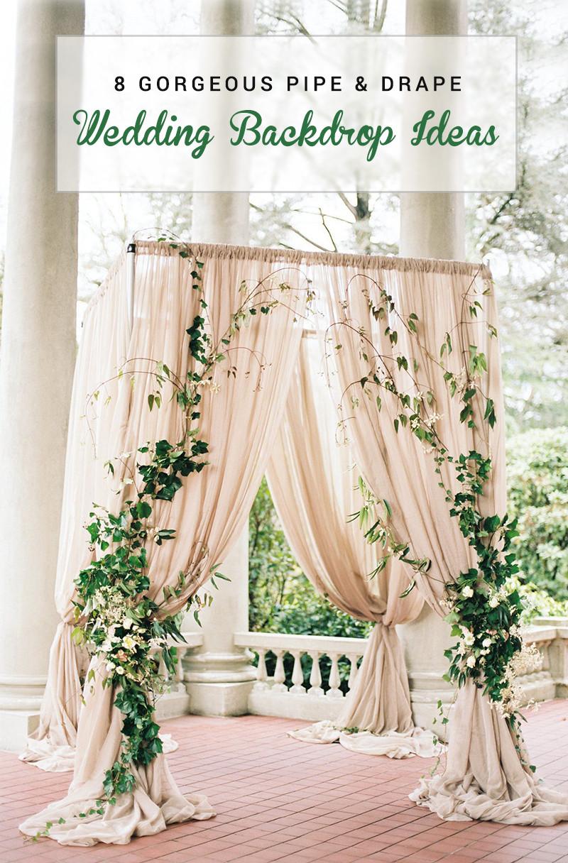 DIY Draping For Wedding  8 Gorgeous Pipe & Drape Wedding Backdrops BridalPulse