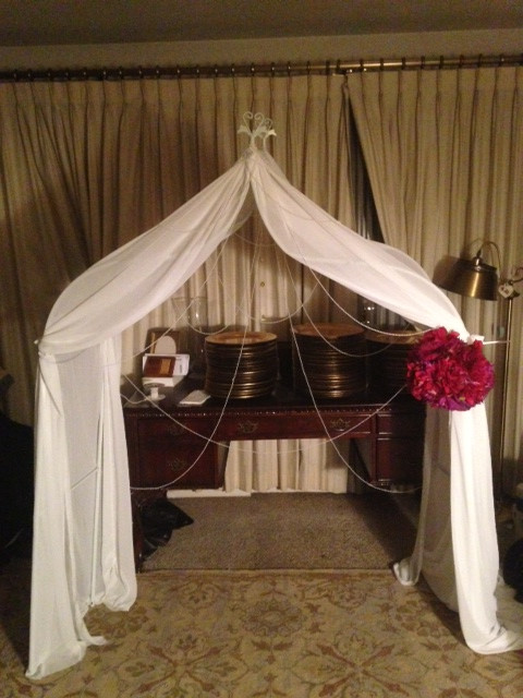 DIY Draping For Wedding  DIY Draped Arch Let me know what you all think