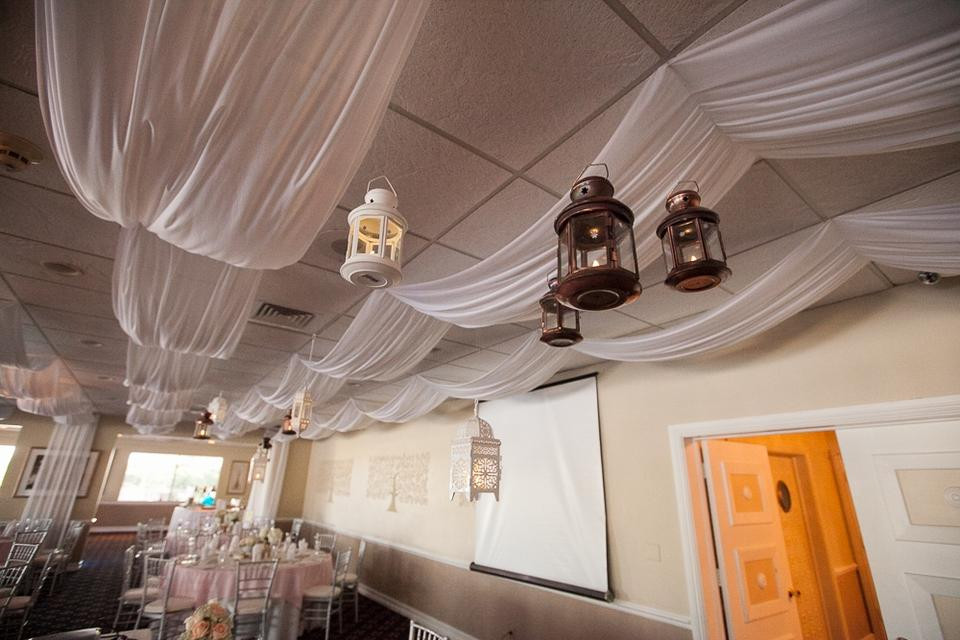 DIY Draping For Wedding  White Ceiling Draping Fabric And Instructions Dropped