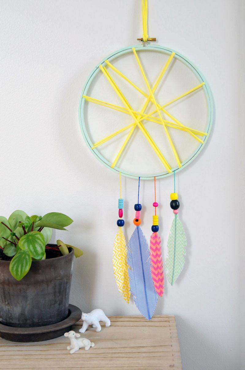 DIY Dream Catcher For Kids  How Make Kids dreamcatcher Great craft for children DIY