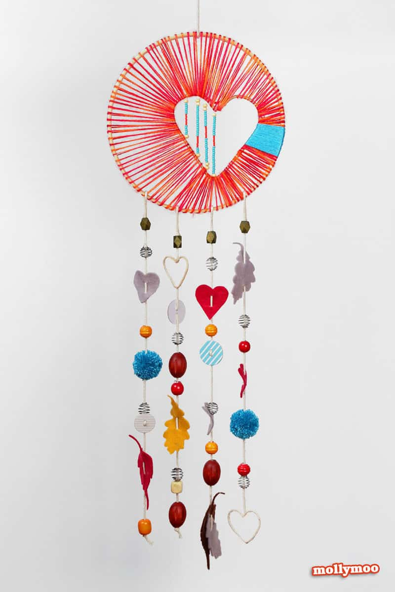 DIY Dream Catcher For Kids  hello Wonderful 10 CREATIVE HEART CRAFTS FOR KIDS
