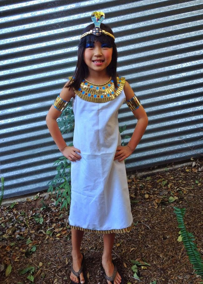 DIY Egyptian Costume  How to Make an Ancient Egypt Girl's Costume