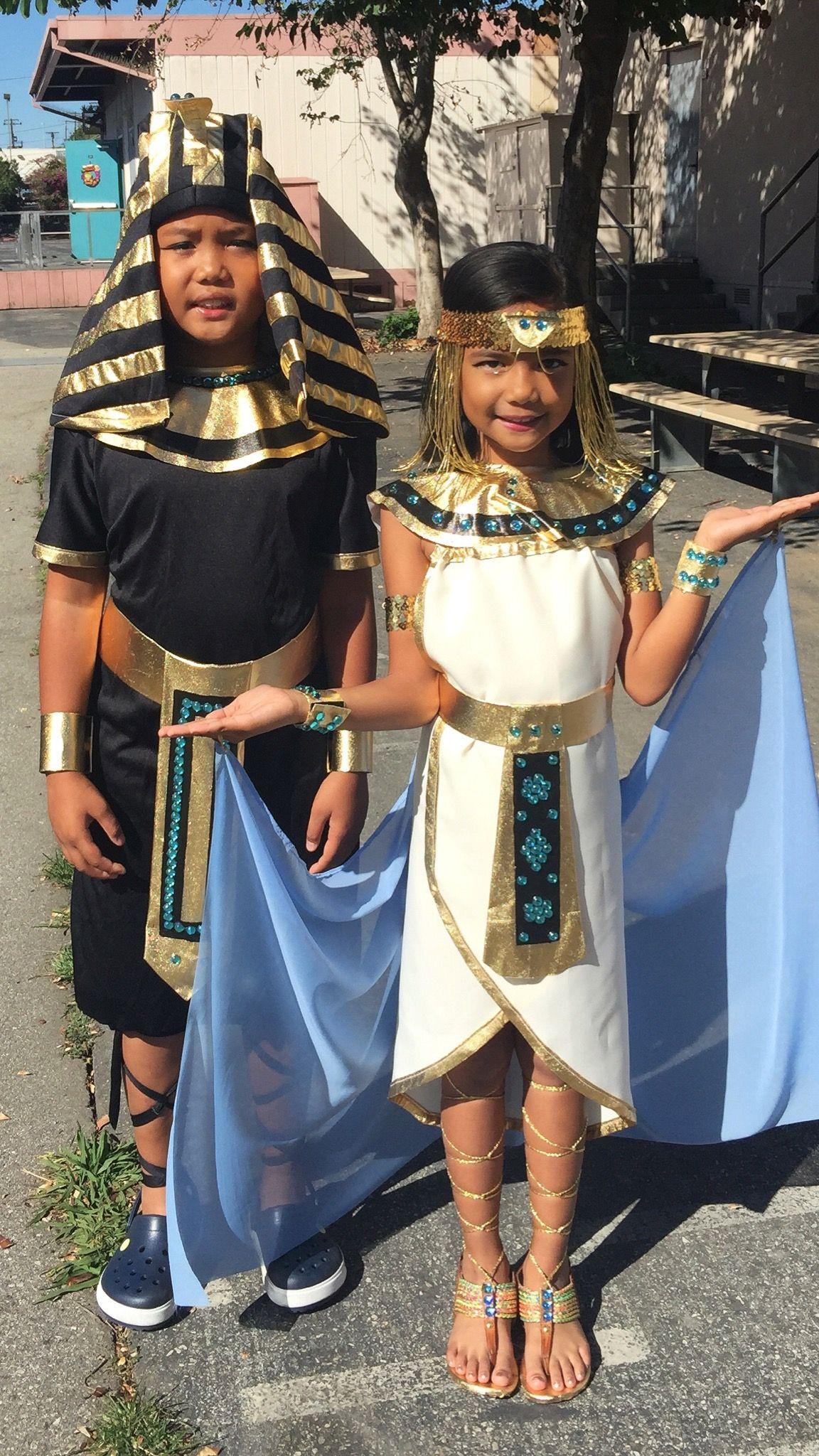 DIY Egyptian Costume  DIY King Tut Costume and Cleopatra