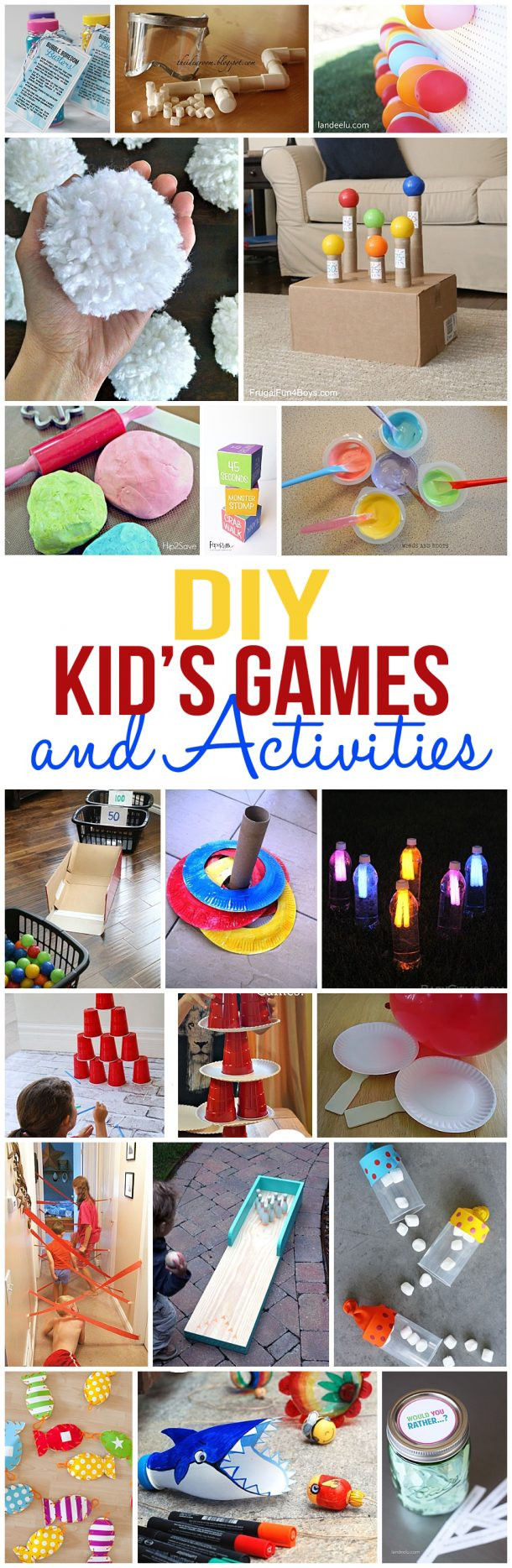DIY Games For Toddlers  DIY Kids Games and Activities for Indoors or Outdoors