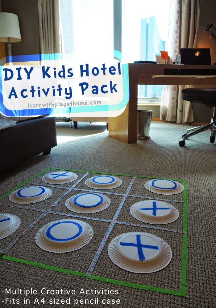 DIY Games For Toddlers  Learn with Play at Home DIY Kids Hotel Activity Pack