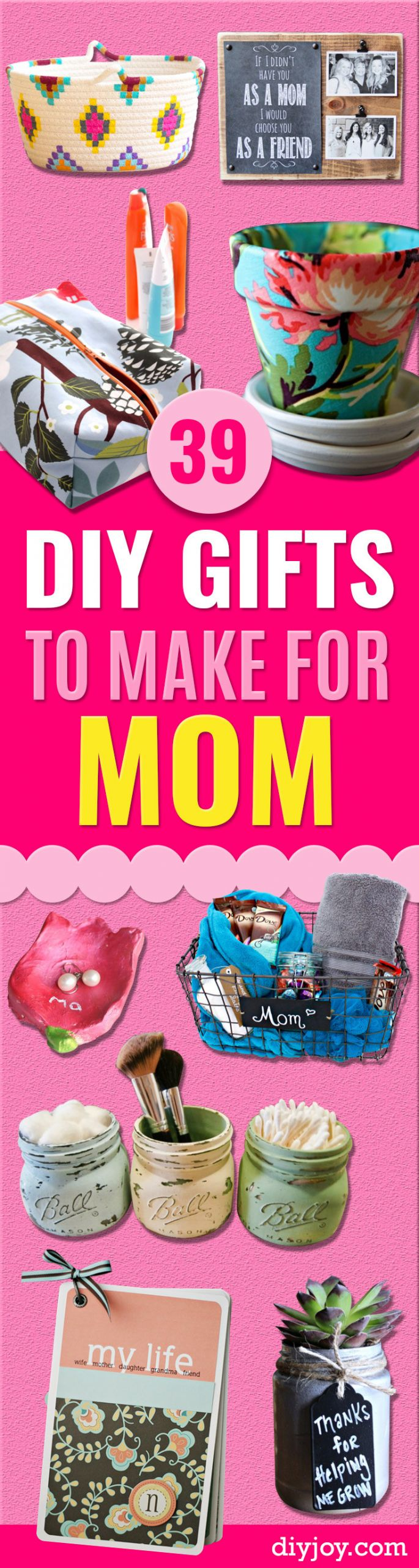 DIY Gift For Your Mom  39 Creative DIY Gifts to Make for Mom