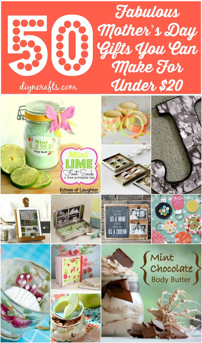 DIY Gift For Your Mom  50 Fabulous Mother's Day Gifts You Can Make For Under $20