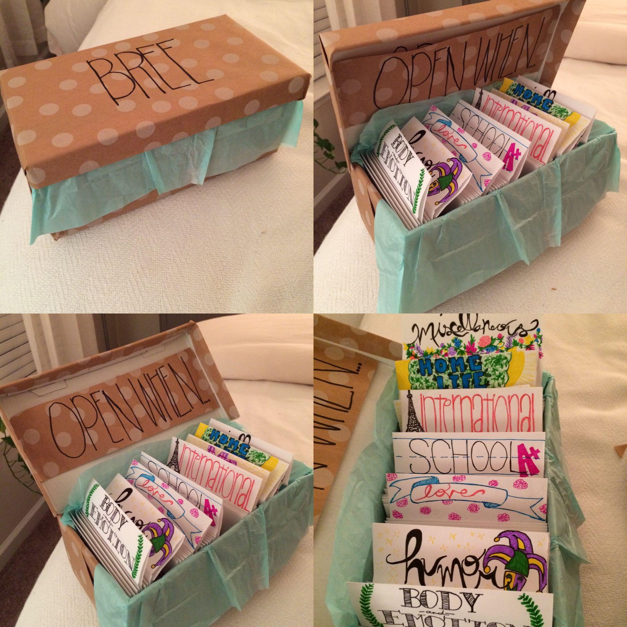 "Diy Gift Ideas For Best Friend  ""Open When"" Letters for long distance friendship"
