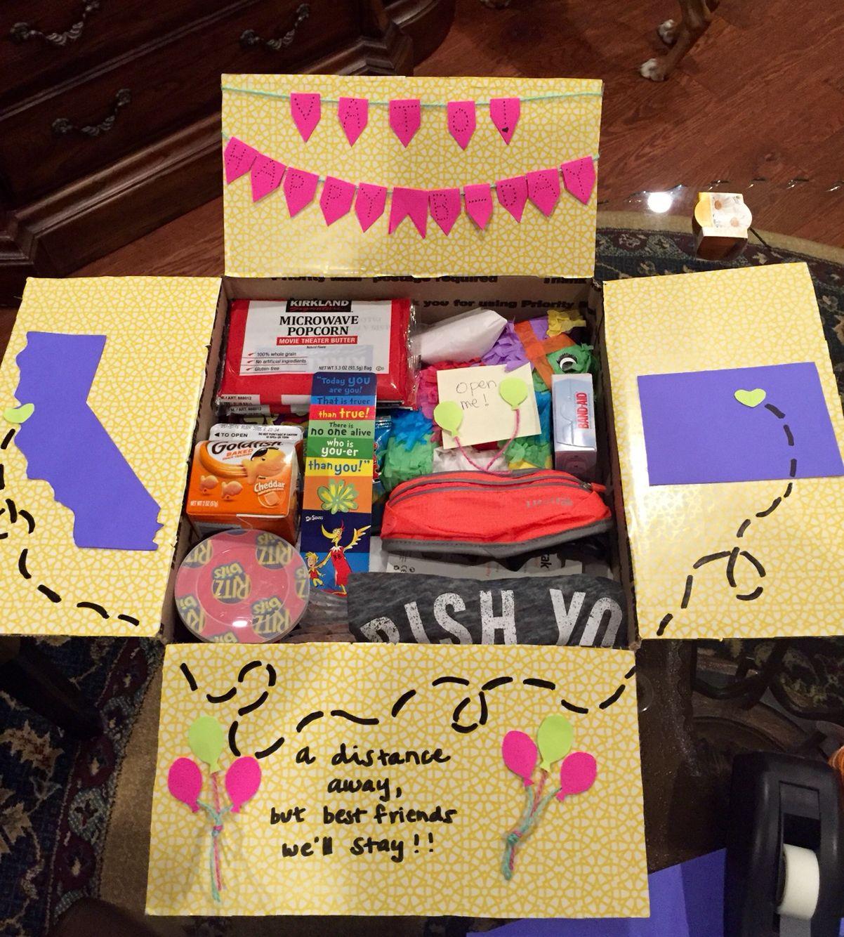 Diy Gift Ideas For Best Friend  Birthday care package for a best friend Gigi Gonzalez