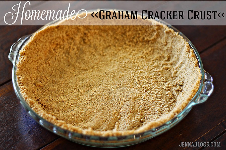 DIY Graham Cracker Crust  Jenna Blogs Homemade Graham Cracker Crust