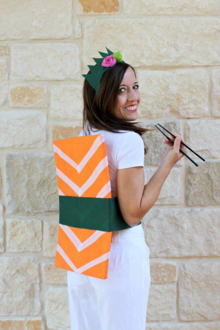 DIY Halloween Costumes  Sashimi Sushi Roll Easy DIY Halloween Costume Fairfield