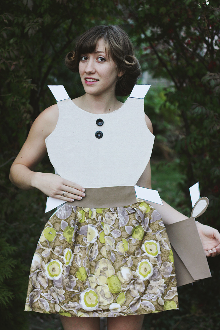DIY Halloween Costumes  DIY Paper Doll Costume The Merrythought