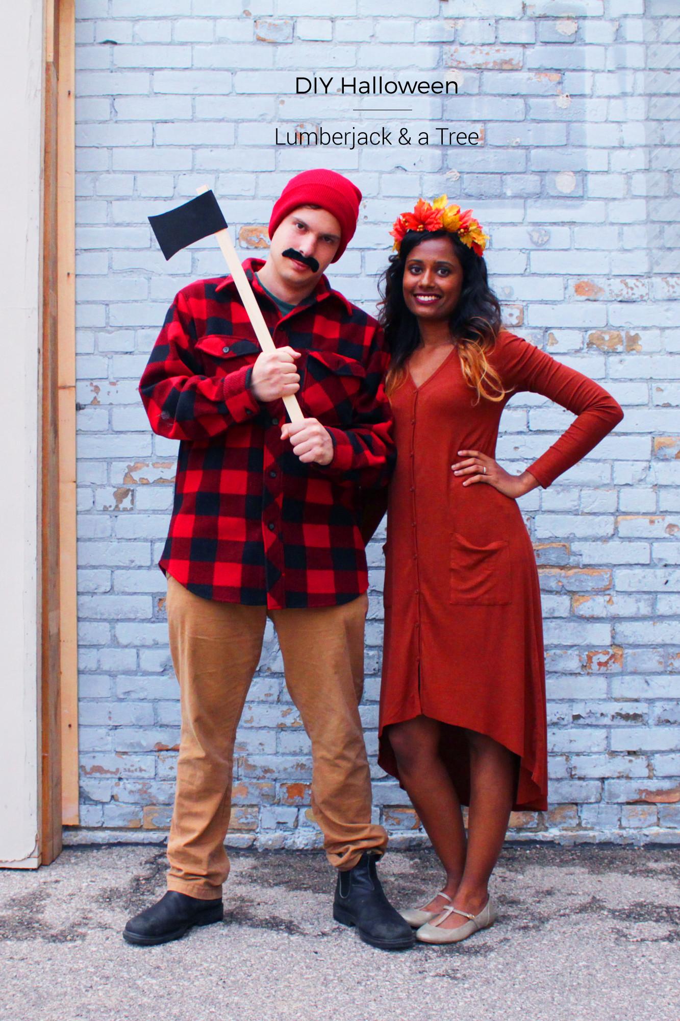 DIY Halloween Costumes  DIY Halloween Couples Costume Lumberjack & a Tree