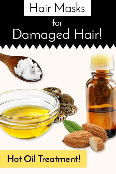 DIY Hot Oil Treatment For Damaged Hair  DIY Hair Masks for Damaged Hair To Keep Dry Hair At Bay