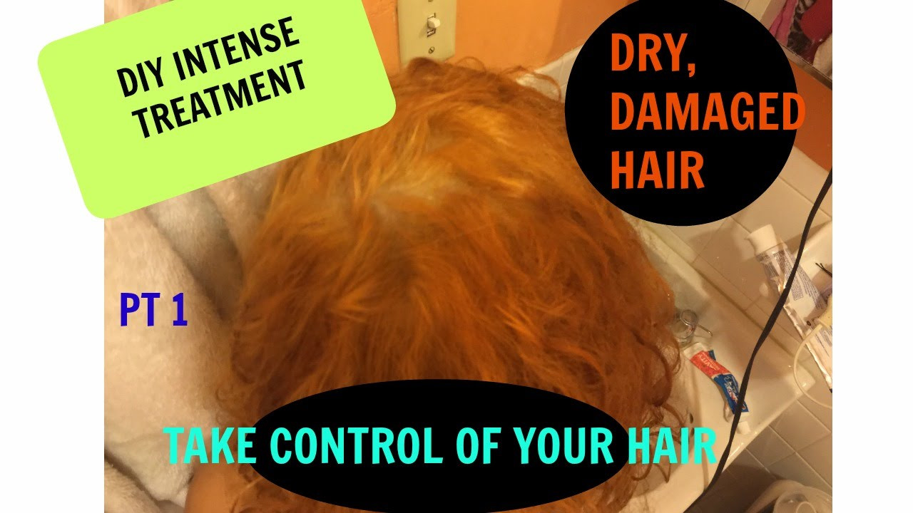 DIY Hot Oil Treatment For Damaged Hair  how to fix DRY DAMAGED HAIR DIY HOT OIL TREATMENT FOR