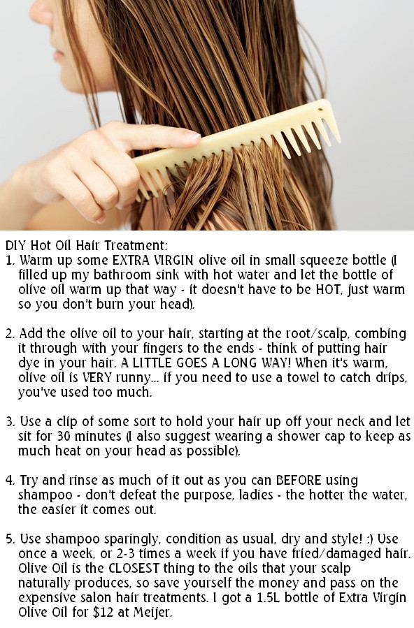 DIY Hot Oil Treatment For Damaged Hair  9 best images about D I Y Hair Treaments and Tips on