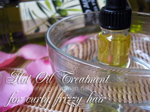 DIY Hot Oil Treatment For Damaged Hair  DIY Beauty hot oil treatment for curly frizzy hair