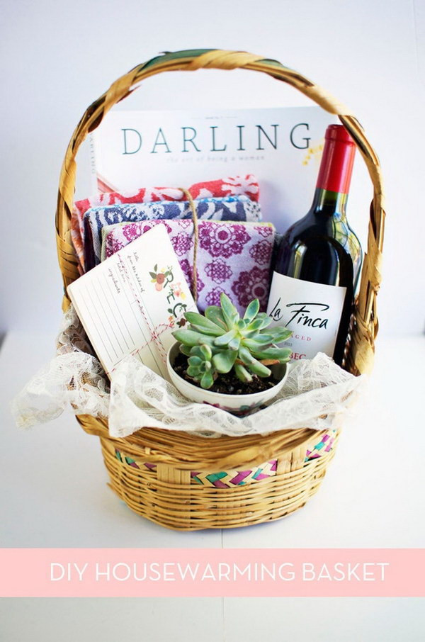 DIY Housewarming Gifts Ideas  35 Creative DIY Gift Basket Ideas for This Holiday Hative