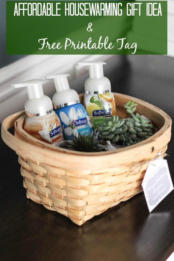 DIY Housewarming Gifts Ideas  Affordable Housewarming Gift Idea Free Printable Tag