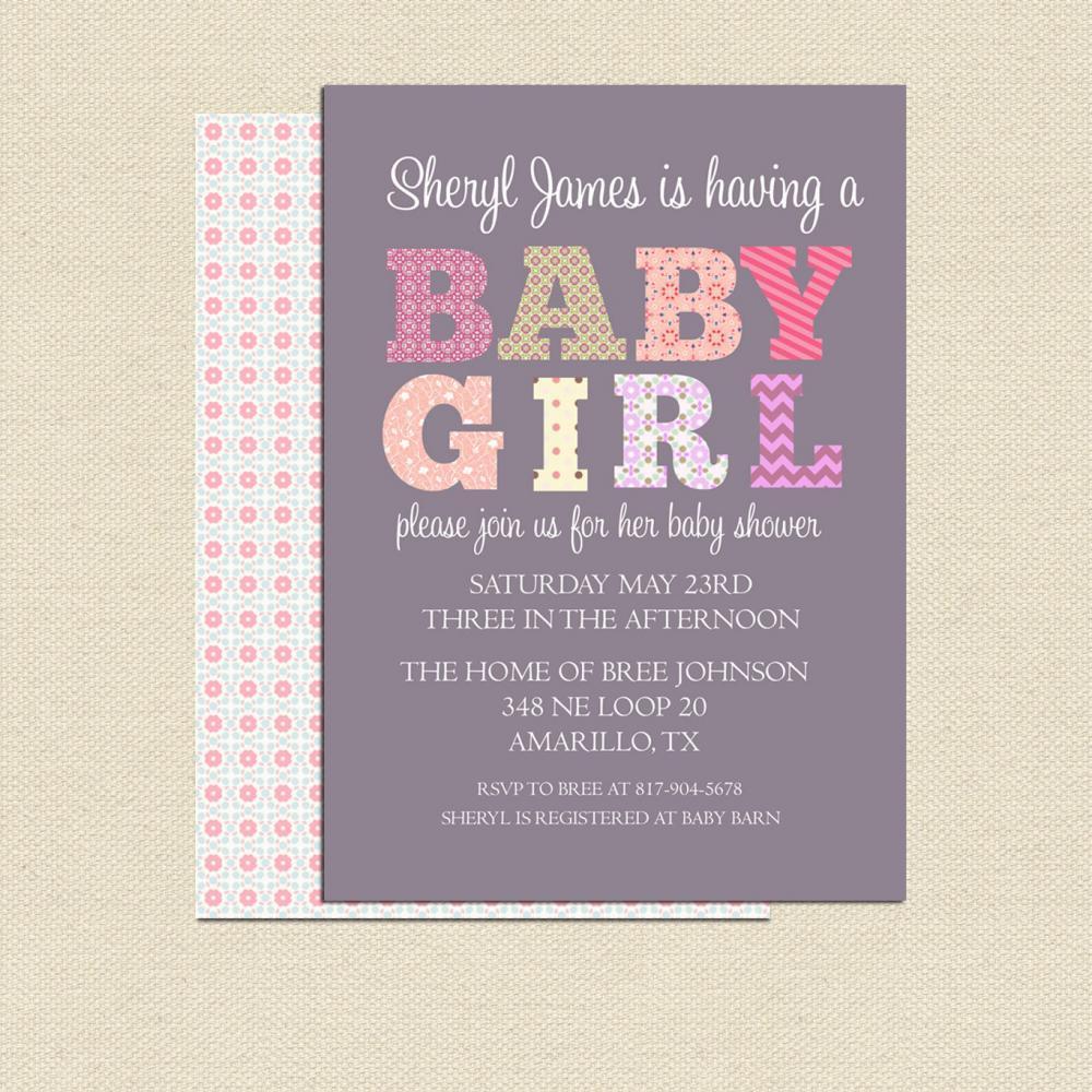 DIY Invitations Baby Shower  DIY Printable Baby Shower Invitation For Girl No 2