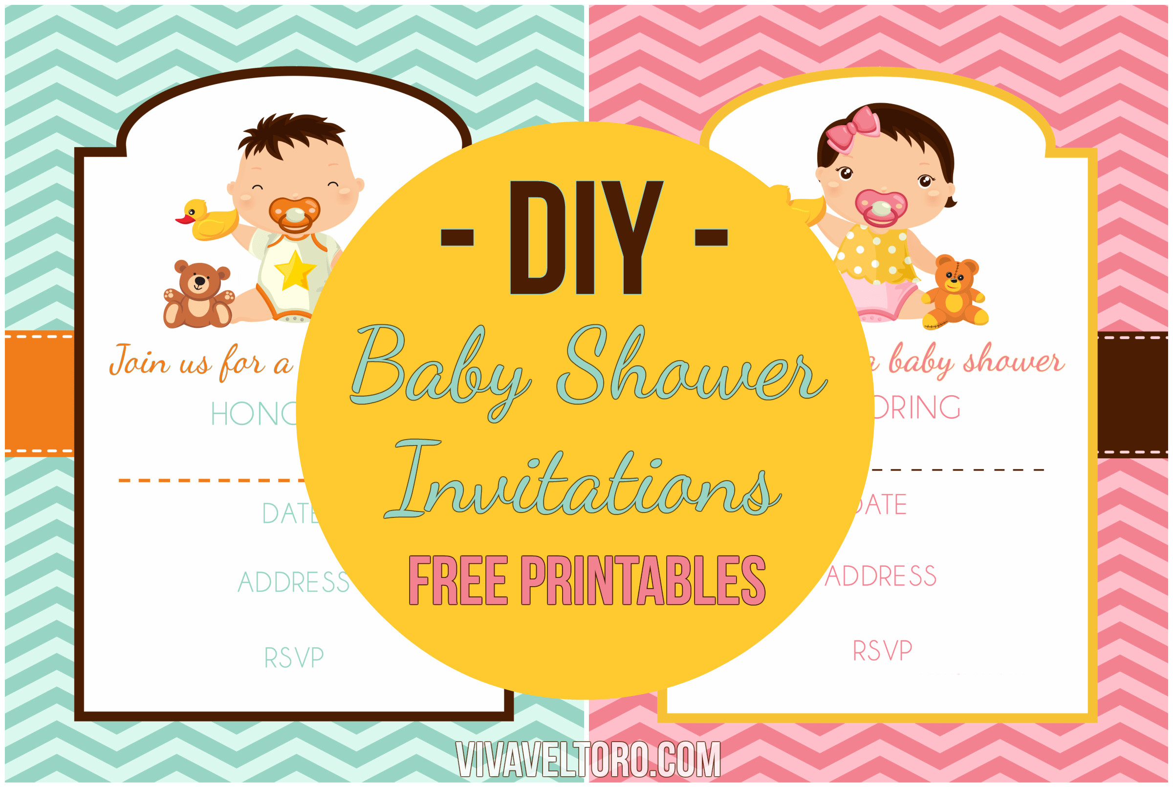 DIY Invitations Baby Shower  DIY Baby Shower Invitations using BeFunky with FREE