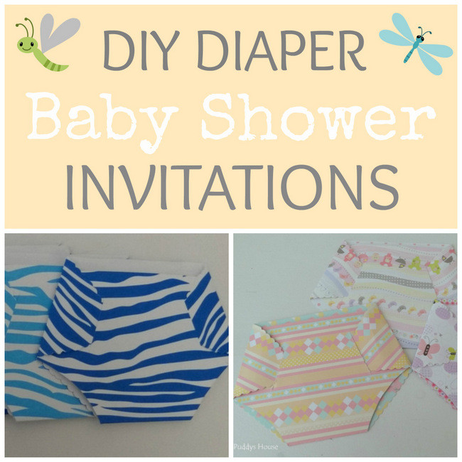 DIY Invitations Baby Shower  Baby Shower Diaper Invitation – Puddy s House