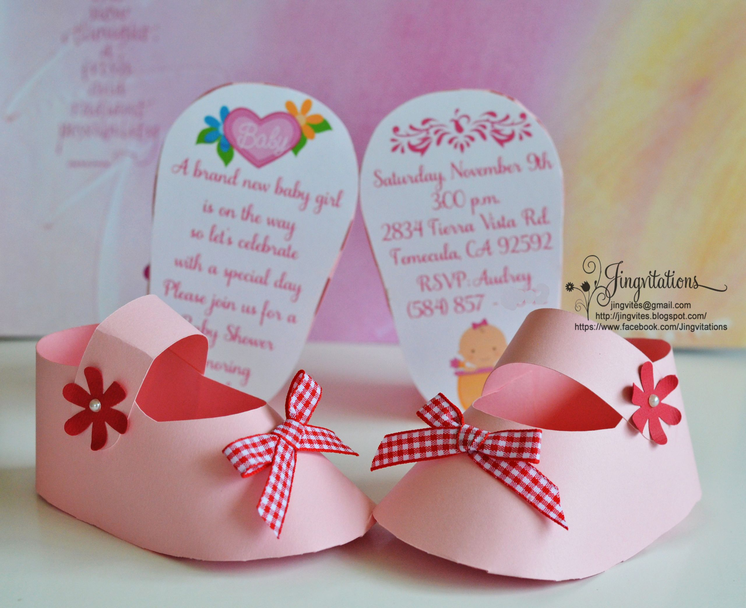 DIY Invitations Baby Shower  3D Invitations Very Unique Baby Shoe Invites for Baby