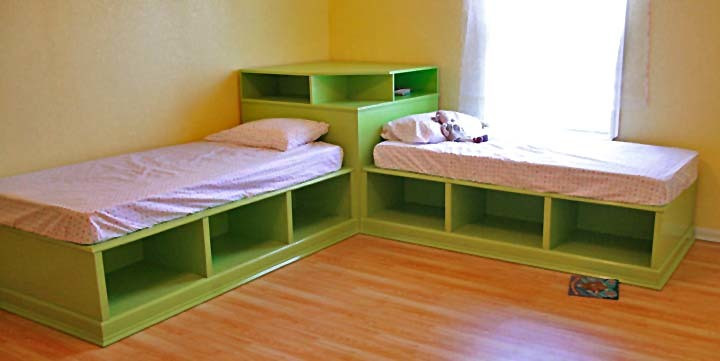 Diy Kids Bed With Storage  cool idea for a DIY kid s bed kids rooms Juxtapost