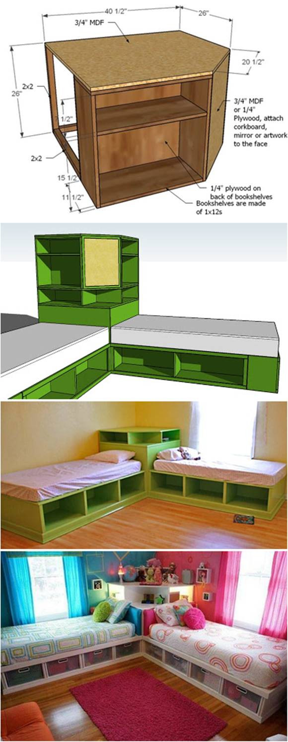 Diy Kids Bed With Storage  How to DIY Corner Unit for the Twin Storage Bed