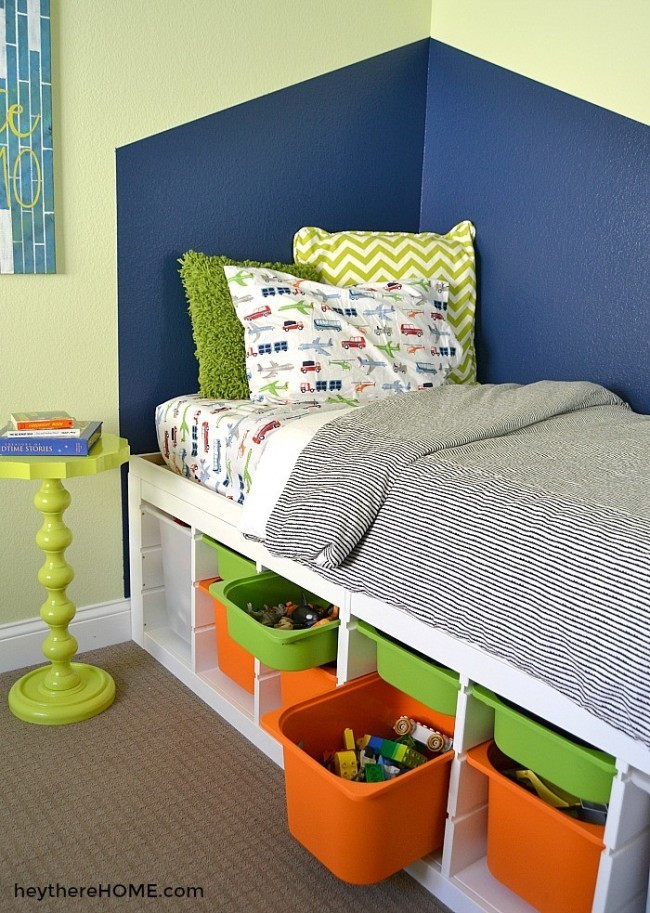 Diy Kids Bed With Storage  Functional and Fun Twin Bed Knock fDecor